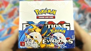 pokemon cards early xy evolutions booster box opening all 36 epic packs