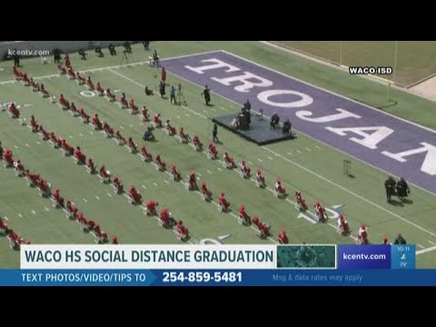 Waco High School seniors walk the stage at graduation ceremony
