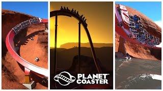 planet coaster iron fire rmc single rail coaster