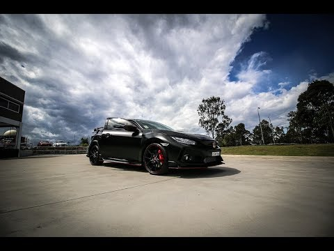 Honda Type R 2017 Wrapped in Satin Black Vinyl