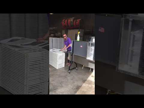 Folding Chair Cleaning Process at Royalty Rentals in Chandler AZ