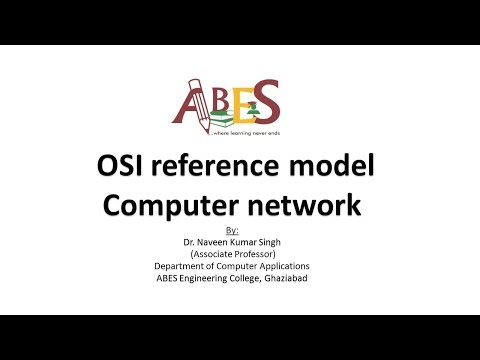 OSI reference model by Dr. Naveen Singh [Computer network]