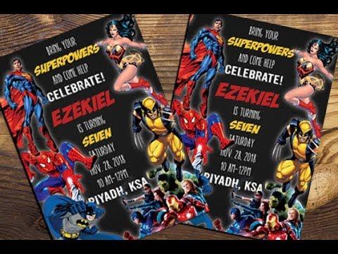 how to create simple birthday invitation card superheroes theme in photoshop cc