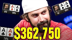 He Gets Pocket Aces THREE TIMES!!!  High Stakes Poker Game