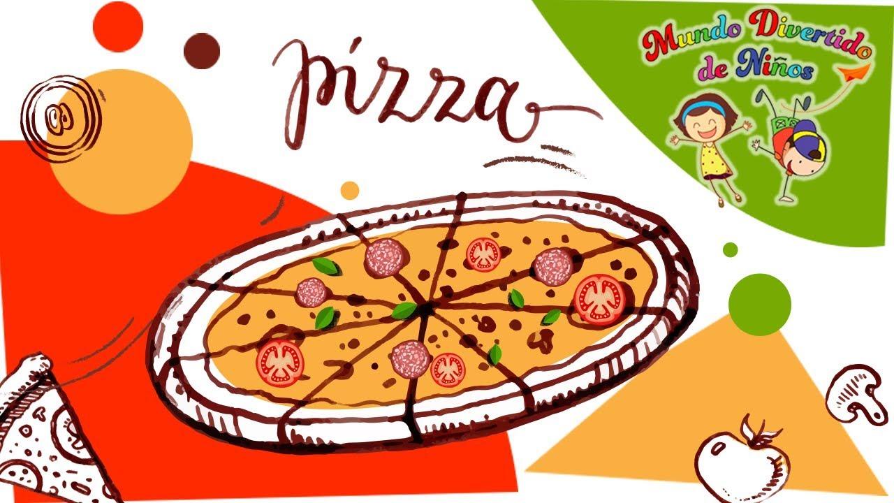Como Dibujar Una Pizza Paso A Paso Videos Educativos Para Niños