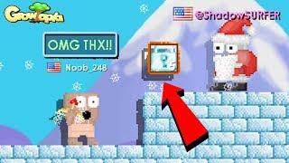 @Santa GIVES DIAMOND LOCKS to FANS!! | Growtopia