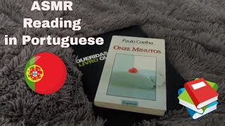 🎧 ASMR Reading A Book In Portuguese - Soft Spoken - Flipping Pages - Tapping (Requested Video)