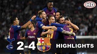 TOTTENHAM 2-4 BARCELONA | All Goals & Highlights Liga Champions 4 Oktober 2018