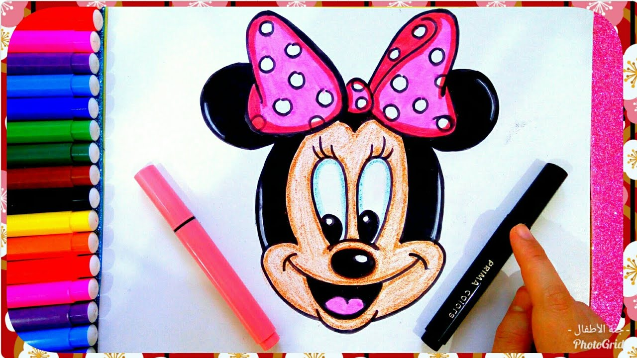 رسم ميكى ماوس سهل للأطفال بالخطوات رسم الكرتون رسم سهل جدا