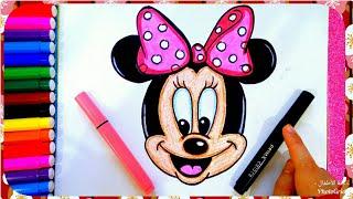 رسم ميكى ماوس سهل للأطفال بالخطوات ، رسم الكرتون ، رسم سهل جدا ، تعليم الرسم للأطفال
