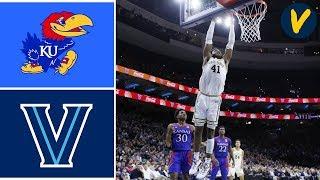 Gambar cover 2019 College Basketball #1 Kansas vs #18 Villanova Highlights