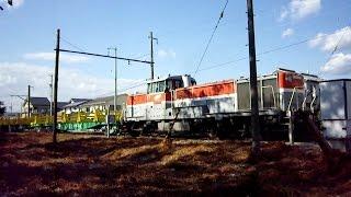 2012/11/09 【甲種】 JR貨物 チキ5500形ロングレール輸送車 DE10-1725 西豊川駅跡 / Delivery of Flatcars at Nishi-Toyokawa