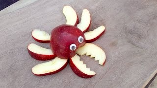 Fruit Carving - Apple Crab Making DIY Fruit Art Tutorial @ j...