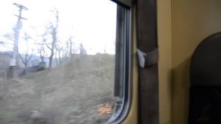 Pohled z vlaku na město Brumov-Bylnice