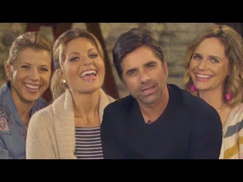 The Cast of Fuller House Tries to Touch John Stamos' Hair // Omaze
