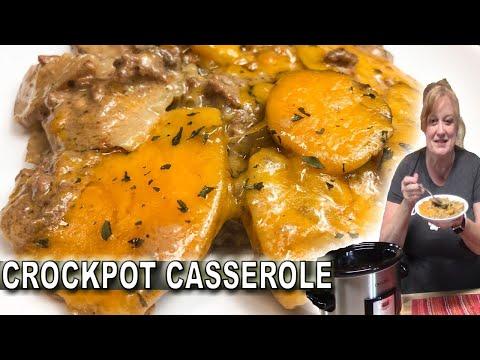 cheesy chops and potatoes  crock pot