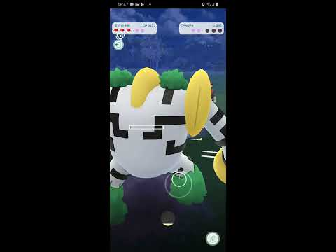 第一次用CP4227的雷吉奇卡斯轟炸火箭隊,表現亮眼 - 台語Pokemon Go