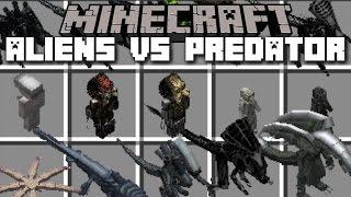 Minecraft ALIEN VS PREDATOR MOD / ESCAPE THE INVASION WITH YOUR SOLDIERS!! Minecraft