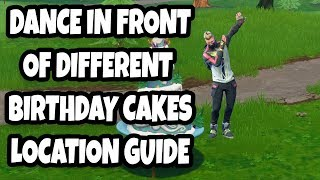 Dance In Front Of Different Birthday Cakes Location Guide | Fortnite Season 5 Birthday Challenges