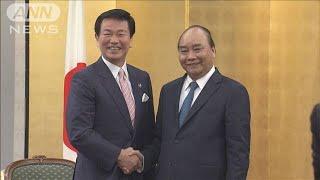 千葉の森田知事とベトナム首相会談 人材確保で協力(19/07/02)