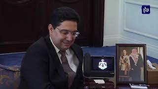 رئيس الوزراء يبحث مع وزير الخارجية المغربي سبل تعزيز العلاقات الثنائية (20/7/2019)