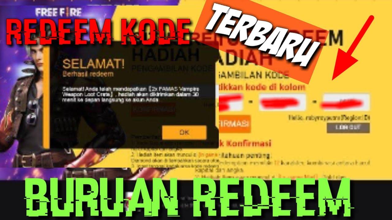 Kode Redeem free fire   Resmi garena   Kode Redeem ff 2020 ...