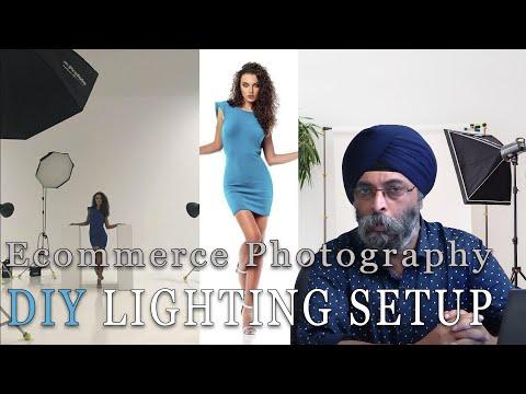ecommerce product photography diy studio lighting setup overhead light