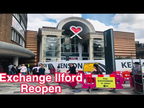 LONDON WALK | EXCHANGE ILFORD Shopping Mall In Ilford London | After Lockdown Mall Reopen