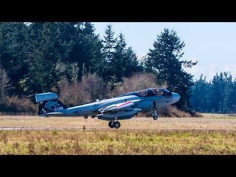 EA-6B Prowlers: Flight Training at Naval Air Station Whidbey Island (HD)