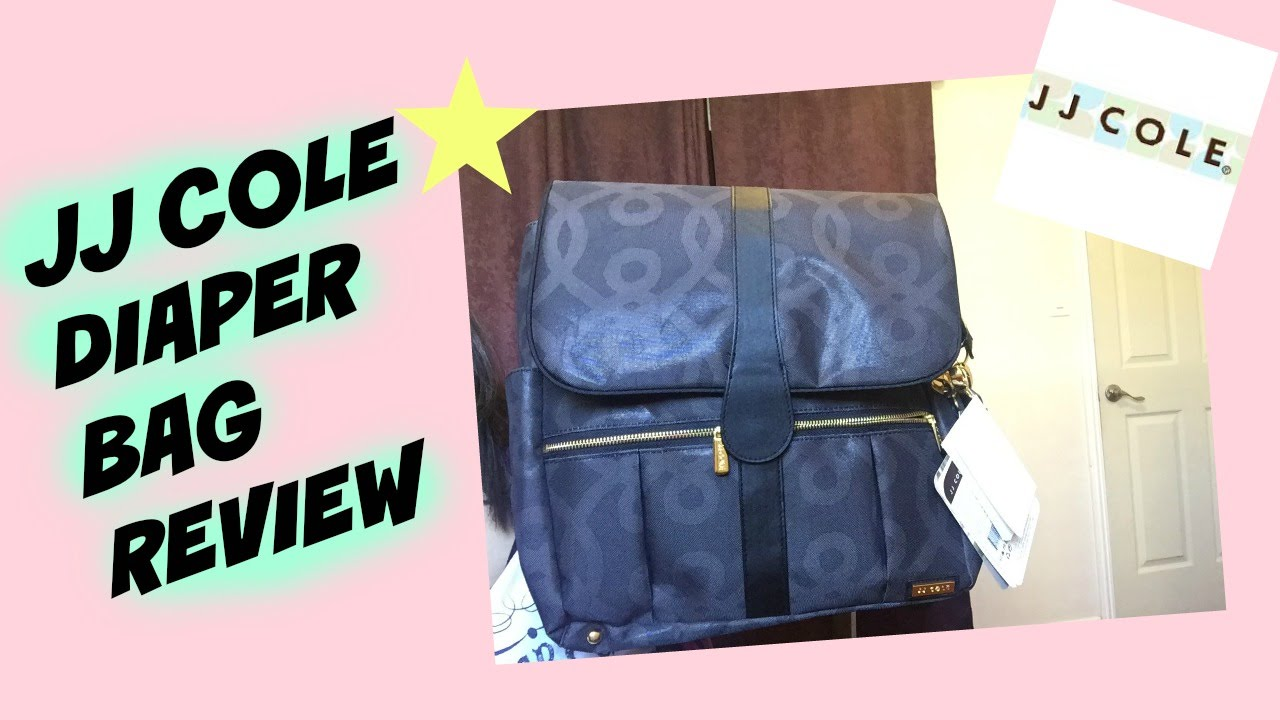jj cole backpack diaper bag review black gold collection youtube. Black Bedroom Furniture Sets. Home Design Ideas