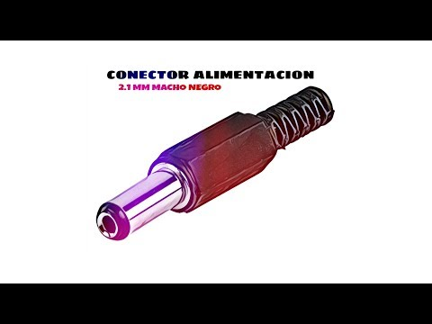 Video de Conector alimentacion DC 2.1 mm x 5.5 mm  Negro