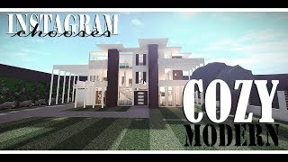 Roblox/Bloxburg/Cozy Modern House/Instagram Chooses/Speed-build+Tour