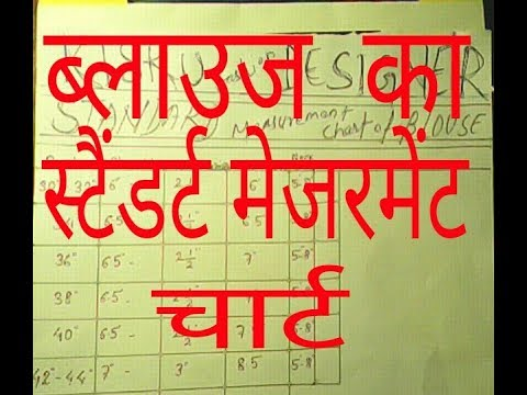 Kisku Fashion Standard Measurement Chart Of Blouse In Hindi