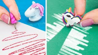 14 DIY Unicorn Miniature School Supplies That Work!
