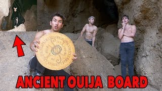 WE FOUND AN ANCIENT OUIJA BOARD IN A SCARY CAVE *followed the photos*