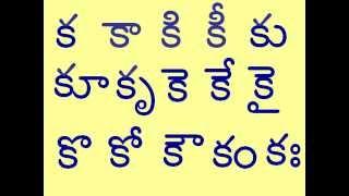 TELUGU GUNIMTALU FOR KA ( క  )