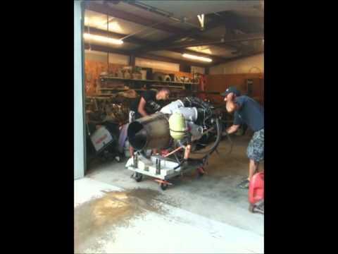 Running my Motorlet M701C-500 Jet Engine - YouTube