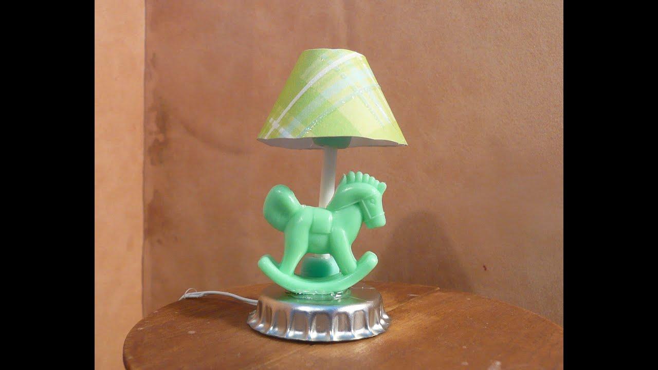 Dollhouse Miniature Nursery Lamp - YouTube