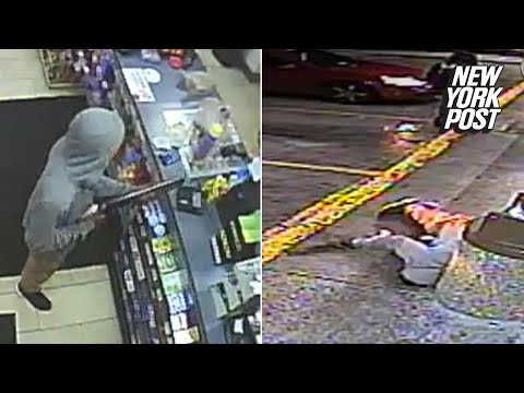 7-11 robber killed by officer who randomly showed up on the scene | New York Post streaming vf
