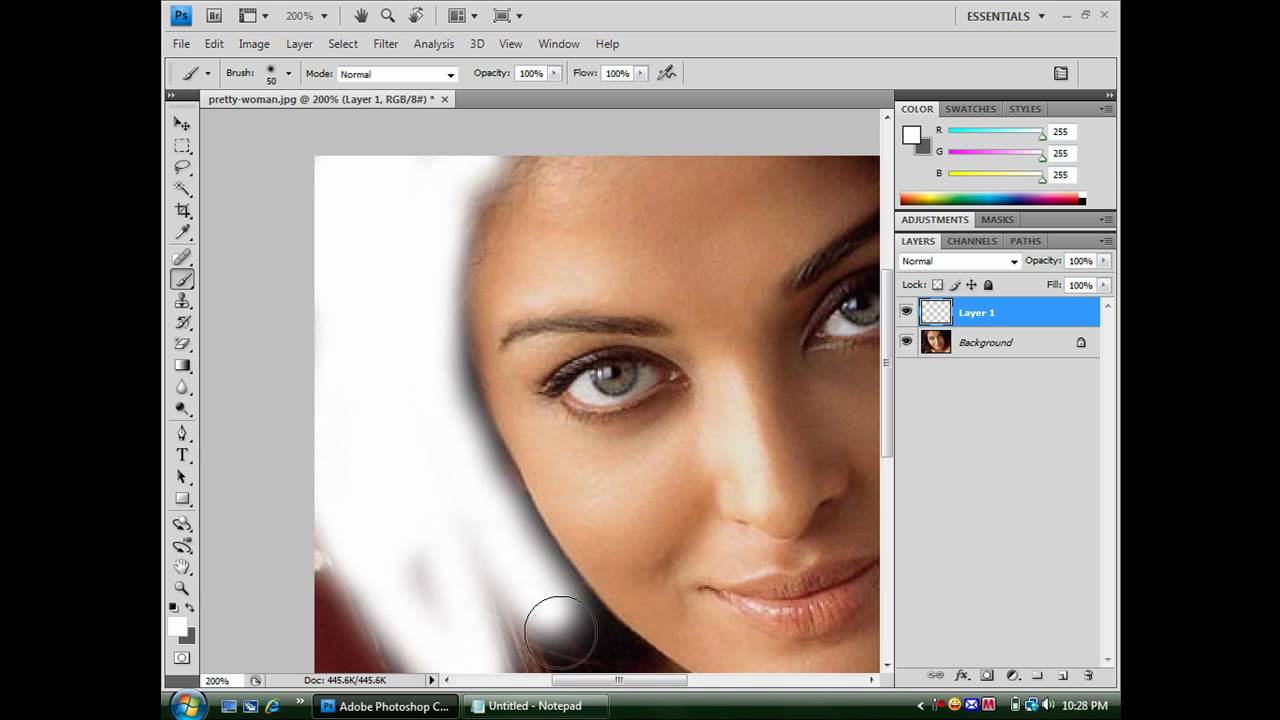 How To Change Your Hair Color In Photoshop Cs4 Youtube