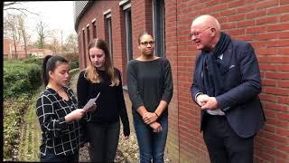 Scholieren CSG Liudger te Burgum in gesprek met Piet Reitsma (FNP)