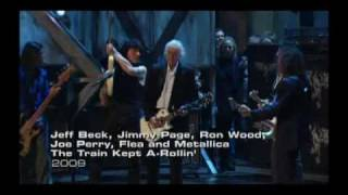 Jeff Bek, Jimmy Page, Ron Wood, Metallica ---The Train Kept A-Rollin