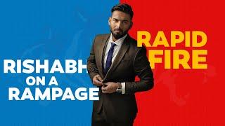 Rapid fire ft. Rishabh Pant