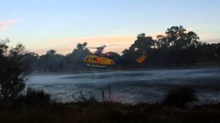 Helitack Fills Up In Guildford, Western Australia
