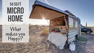 Full time Living in amazing 54 Sq. Ft Micro Home  Selfbuild   What makes you happy