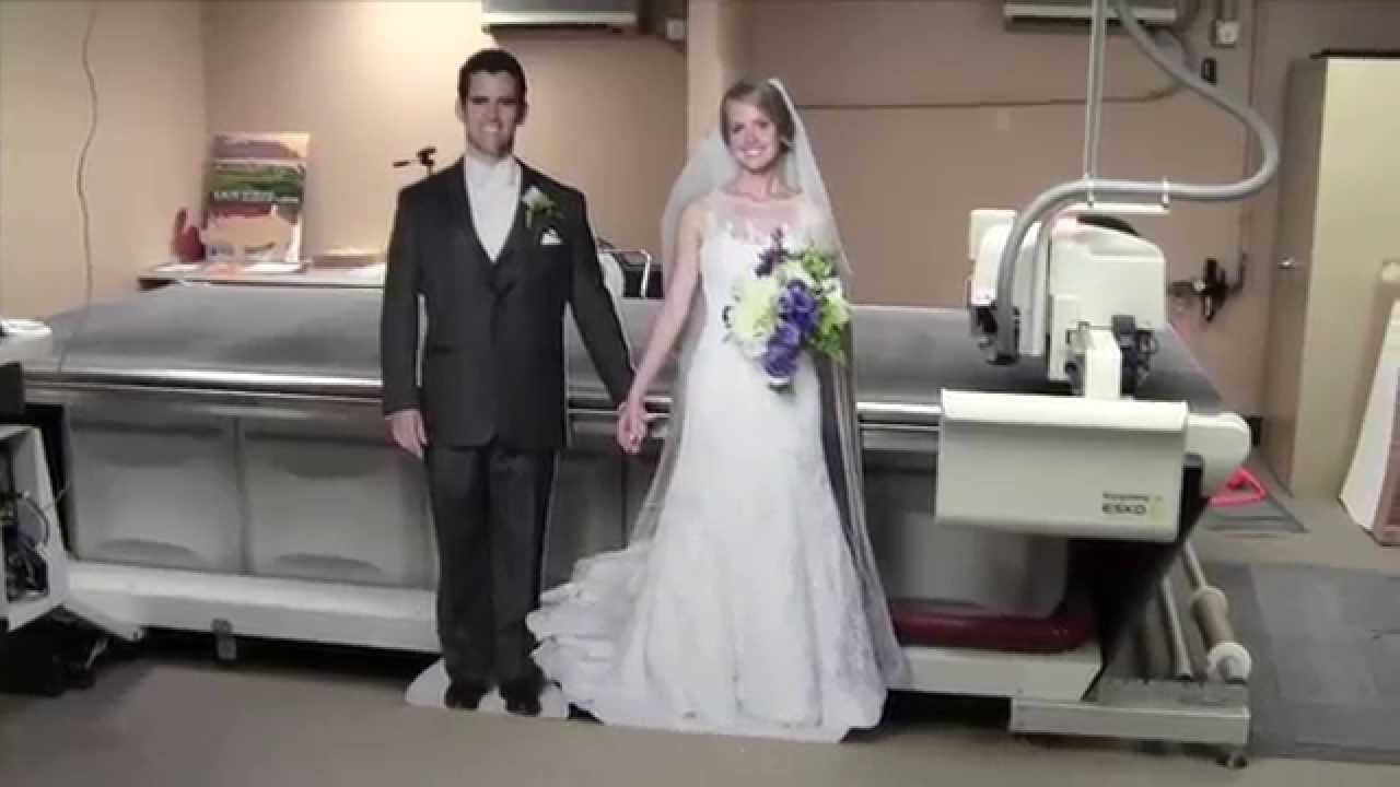 Bride and Groom Life Size Cut-Outs - YouTube