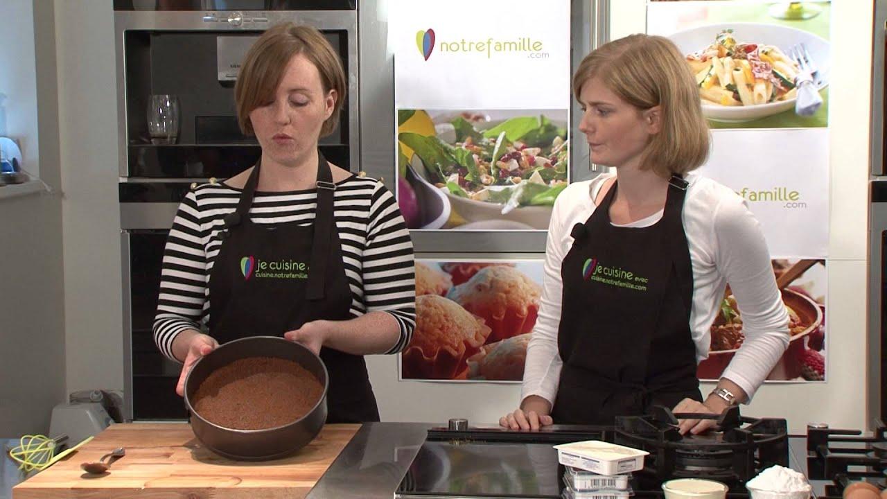 cheesecake vanille et spéculoos - notrefamille - youtube