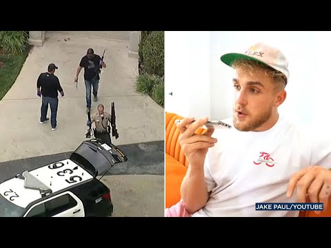 Jake Paul's Calabasas house raided by FBI agents serving search ...
