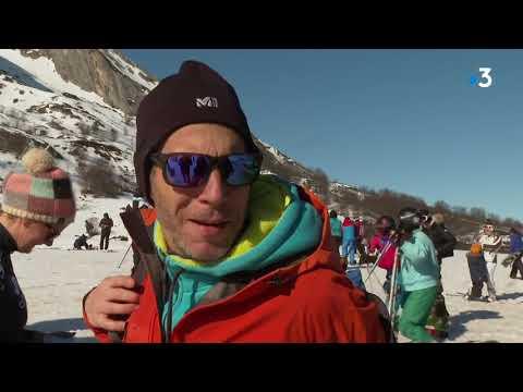 La station de ski de Gourette reste ouverte (et enneigée) malgré l'épidémie de Coronavirus.