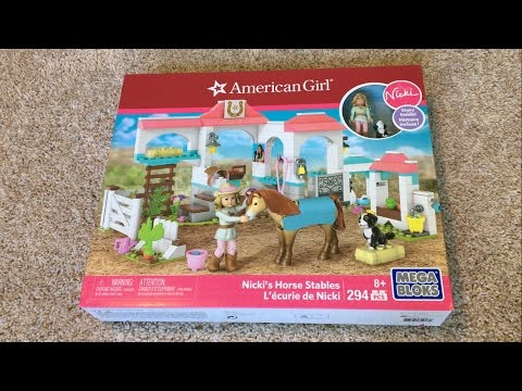 American Girl Nicki's Horse Stables Mega Bloks Set Opening And Review